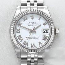 Rolex Lady-Datejust gebraucht 31mm Weiß Datum Stahl