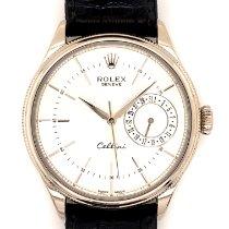 Rolex Cellini Date Hvidguld 39mm Sølv Ingen tal