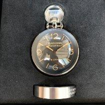Panerai Table Clock Stål 65mm Sort Ingen tal