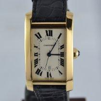 Cartier Желтое золото Автоподзавод Белый Римские 23mm подержанные Tank Américaine