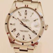 Rolex Oyster Perpetual Date Acier 34mm Blanc Romains France, PUISSERGUIER