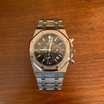 Audemars Piguet Royal Oak Chronograph Staal 39mm Blauw Geen cijfers Nederland, Tilburg