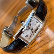 Cartier Tank Américaine Steel 41.6mm Silver Roman numerals United States of America, Texas, Houston