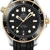 Omega Seamaster Diver 300 M Золото/Cталь 42mm Черный Без цифр