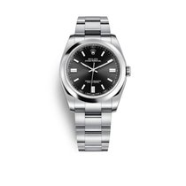 Rolex Oyster Perpetual 36 pre-owned 36mm Black Steel
