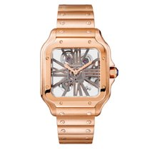 Cartier Santos (submodel) Rose gold 40mm Grey Roman numerals United States of America, New York, New York