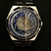 Vacheron Constantin Steel Automatic Blue No numerals 43.5mm new Overseas World Time
