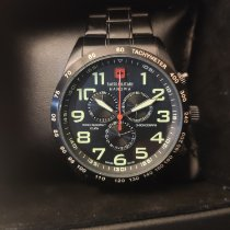 Swiss Military pre-owned Chronograph 44mm Black 10 ATM