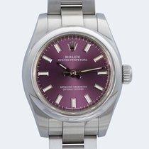 Rolex Oyster Perpetual 26 Otel 26mm Violet Fara cifre