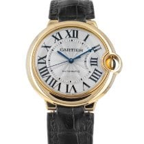 Cartier Ballon Bleu 36mm Yellow gold 36mm Silver Roman numerals United States of America, Maryland, Baltimore, MD