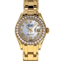Rolex Lady-Datejust Pearlmaster Yellow gold 29mm Mother of pearl No numerals United States of America, Maryland, Baltimore, MD