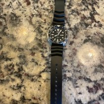Seiko 5 Steel 44mm Black No numerals United States of America, Indiana, charlestown