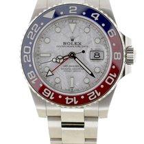 Rolex GMT-Master II Or blanc 40mm Argent Sans chiffres Belgique, Antwerp
