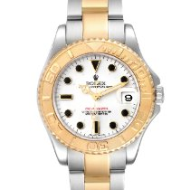 Rolex Yacht-Master Goud/Staal 35mm Wit