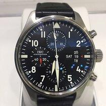 IWC Pilot Chronograph Aço 43mm Preto Árabes