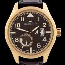 IWC 핑크골드 자동 갈색 아라비아 숫자 44mm 중고시계 Pilot
