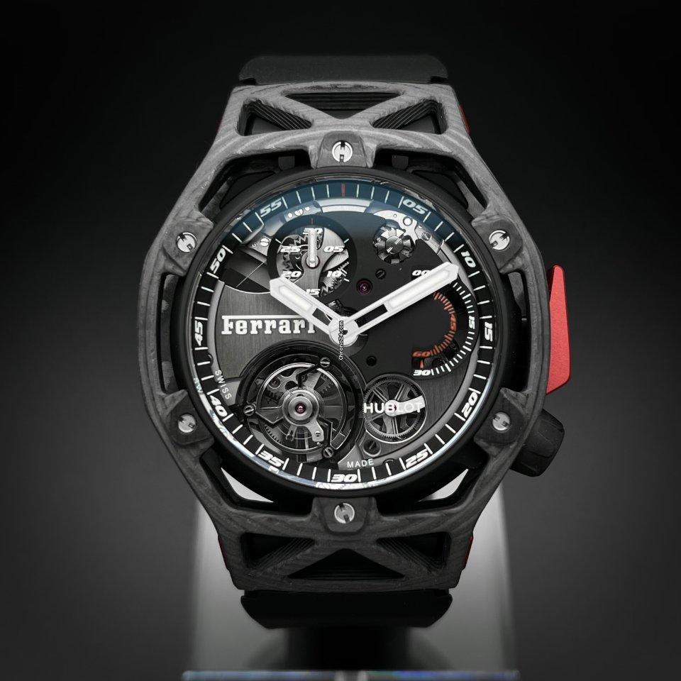恒寶 Techframe Ferrari Tourbillon Chronograph 408.QU.0123.RX 新的
