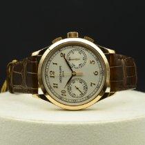 Patek Philippe Chronograph Pозовое золото 39.4mm Cеребро Aрабские
