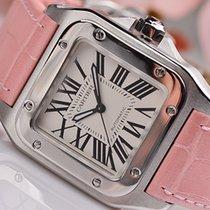 Cartier Santos 100 Steel Silver Roman numerals