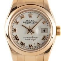 Rolex Red gold Automatic White 26mm pre-owned Lady-Datejust