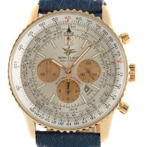 Breitling Yellow gold Automatic Silver 41.5mm pre-owned Navitimer