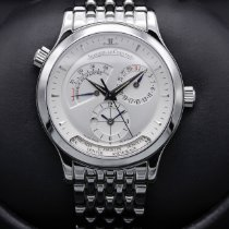 Jaeger-LeCoultre Master Geographic pre-owned 38mm Silver GMT Steel