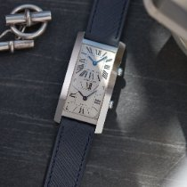 Cartier Tank (submodel) Tank Cintrée | Dual Time | White Gold | 11061 Very good White gold 45mm Manual winding