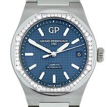 Girard Perregaux Laureato pre-owned 42mm Blue Date Steel