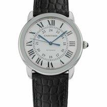 Cartier Ronde Croisière de Cartier pre-owned 36mm Silver Leather