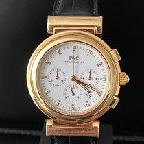 IWC Da Vinci Chronograph Yellow gold 37mm White No numerals