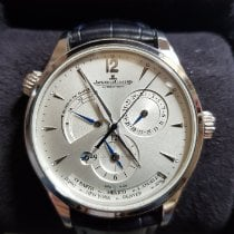 Jaeger-LeCoultre Master Geographic Stahl 39mm Silber Arabisch