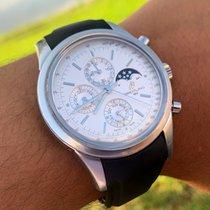 Breitling Transocean Chronograph 1461 Acero Plata