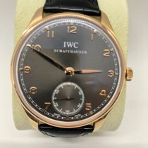 IWC Portuguese Hand-Wound Rose gold 44mm Grey Arabic numerals United States of America, New York, New York