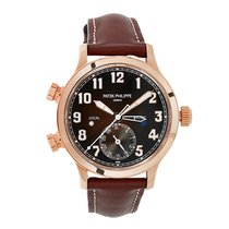 Patek Philippe Travel Time Rose gold 37mm Brown Arabic numerals United States of America, New York, New York