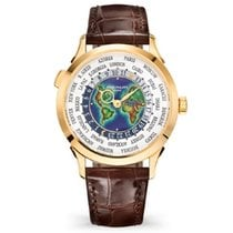 Patek Philippe World Time Желтое золото 38mm Белый Aрабские