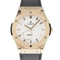 Hublot Red gold Manual winding White 45mm pre-owned Classic Fusion Ultra-Thin