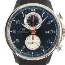 IWC Portuguese Yacht Club Chronograph Сталь 45.5mm Черный