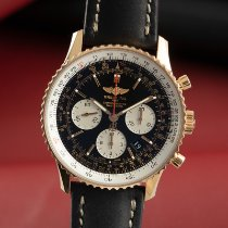 Breitling Yellow gold Automatic Black 42.5mm pre-owned Navitimer