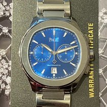 Piaget Polo S pre-owned 42mm Blue Chronograph Date Steel
