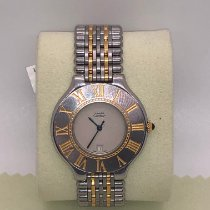 Cartier 21 Must de Cartier Gold/Steel 28mm White United States of America, New York, New York