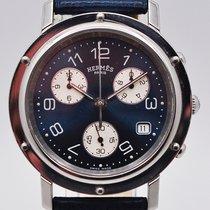 Hermès Clipper Stahl 38mm Blau Arabisch