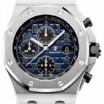 Audemars Piguet Platinum Automatic Blue Arabic numerals 42mm new Royal Oak Offshore Chronograph