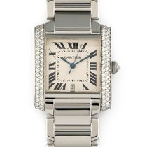 Cartier Tank Française Steel 28mm Silver Roman numerals United States of America, Florida, Hollywood
