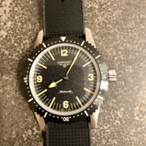 Longines Heritage pre-owned 42mm Black Rubber