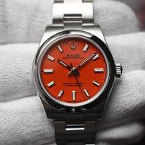 Rolex Oyster Perpetual 31 Сталь 31mm Красный Без цифр