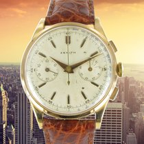 Zenith Red gold Manual winding Silver No numerals 37.5mm pre-owned
