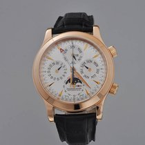 Jaeger-LeCoultre Red gold Automatic Silver 42mm pre-owned Master Memovox