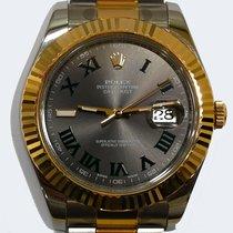 Rolex Datejust II usados 41mm Gris Fecha Acero y oro
