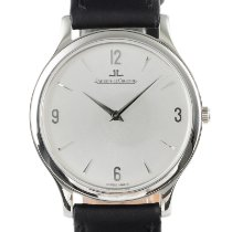 Jaeger-LeCoultre Master Ultra Thin pre-owned 34mm Silver Calf skin