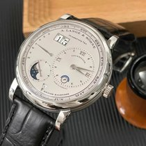 A. Lange & Söhne Platinum Automatic Silver Roman numerals 41.9mm pre-owned Lange 1